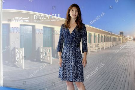 French actress Alexia Landeau poses during a photocall for her film Day out of days, at the 41st American Film Festival, in Deauville, Normandy, Western France