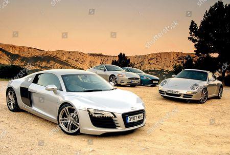 Audi R8 Porsche 911 Carrera S Powerkit Redaktionelles Stockfoto Stockbild Shutterstock