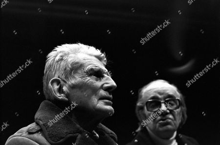 Samuel Becket (left) and Max Wall in 'South Bank Show' - 1984