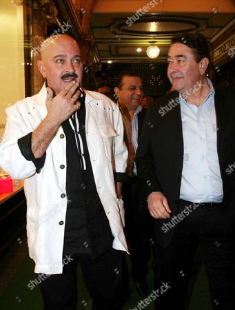 Actors Rakesh Roshan and Randhir Kapoor arriving at Shilpa Shetty's Birthday party