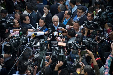 Alejandro Maldonado Guatemala's acting President Alejandro Maldonado talks to journalists after voting at a polling station in Guatemala City, . An uncomfortable challenge confronts Guatemala's presidential candidates: trying to win the votes of a nation that has put the last elected leader in court custody after a corruption scandal forced President Otto Perez Molina and Vice President Roxana Baldetti to resign. Both are currently in custody, accused of being involved in a customs kickback scheme