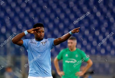 Ogenyi Onazi Lazio's Ogenyi Onazi celebrates after scoring during an Europa League Group C soccer match between Lazio and Saint-Etienne, at Rome's Olympic stadium