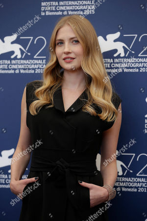 Stock Photo of Paulina Chapko Actress Paulina Chapko poses for the photo call of the movie 11 Minutes, at the 72nd edition of the Venice Film Festival in Venice, Italy, . The 72nd edition of the festival runs until Sept. 12