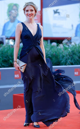 Stock Image of Paulina Chapko Actress Paulina Chapko poses during the red carpet of the movie 11 Minutes, at the 72nd edition of the Venice Film Festival in Venice, Italy, . The 72nd edition of the festival runs until Sept. 12
