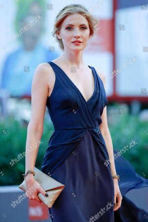Paulina Chapko Actress Paulina Chapko poses during the red carpet of the movie 11 Minutes, at the 72nd edition of the Venice Film Festival in Venice, Italy, . The 72nd edition of the festival runs until Sept. 12