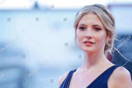 Stock Picture of Paulina Chapko Actress Paulina Chapko poses during the red carpet of the movie 11 Minutes, at the 72nd edition of the Venice Film Festival in Venice, Italy, . The 72nd edition of the festival runs until Sept. 12