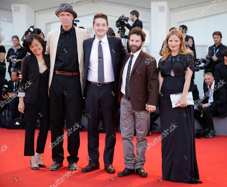 Rosa Tran, Duke Johnson, Charlie Kaufman, Tom Noonan, Jennifer Jason Leigh From left, producer Rosa Tran, actor Tom Noonan, directors Duke Johnson and Charlie Kaufman and actress Jennifer Jason Leigh pose during the red carpet for the film Anomalisa at the 72nd edition of the Venice Film Festival in Venice, Italy, . The 72nd edition of the festival runs until Sept. 12