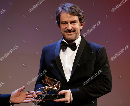 Lorenzo Vigas Director Lorenzo Vigas receives the Golden Lion for best film for 'Desde Alla' (From afar) during the awards ceremony of the 72nd edition of the Venice Film Festival in Venice, Italy