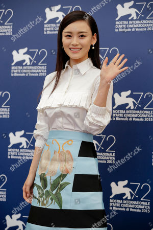 Stock Image of Shang Yuxian Actress Shang Yuxian poses during the photo call for the movie Lao Pao Er (Mr. Six) at the 72nd edition of the Venice Film Festival in Venice, Italy