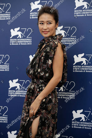 Liang Jing Actress Liang Jing poses during the photo call for the movie Lao Pao Er (Mr. Six) at the 72nd edition of the Venice Film Festival in Venice, Italy
