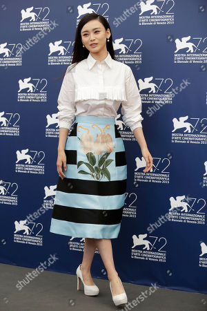 Shang Yuxian Actress Shang Yuxian poses during the photo call for the movie Lao Pao Er (Mr. Six) at the 72nd edition of the Venice Film Festival in Venice, Italy