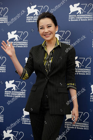 Xu Qing Actress Xu Qing poses during the photo call for the movie Lao Pao Er (Mr. Six) at the 72nd edition of the Venice Film Festival in Venice, Italy