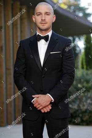 Shia La Beouf Actor Shia La Beouf poses for photographers at the red carpet for the film Man Down, at the 72nd edition of the Venice Film Festival in Venice, Italy, . The 72nd edition of the festival runs until Sept. 12