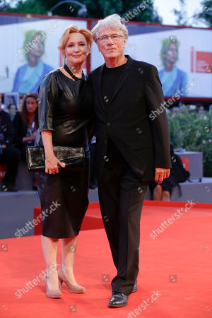 Jurgen Prochnow, Verena Wengler Actor Juergen Prochnow, right, and wife Verena Wengler pose on the red carpet of the movie Remember, at the 72nd edition of the Venice Film Festival in Venice, Italy, . The 72nd edition of the festival runs until Sept. 12