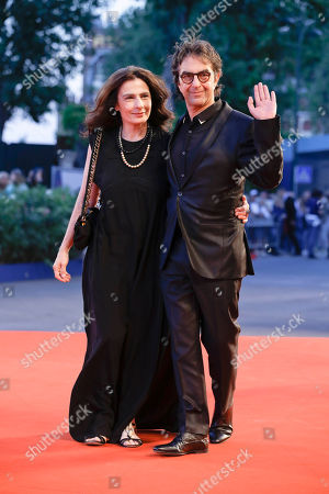 Atom Egoyan, Arsinee Khanjian Director Atom Egoyan, right, and Arsinee Khanjian arrive for the screening of the movie Remember at the 72nd edition of the Venice Film Festival in Venice, Italy, . The 72nd edition of the festival runs until Sept. 12