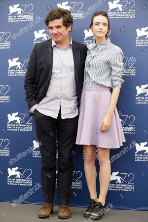 Stacy Martin, Nicolas Saada From left, director Nicolas Saada and actress Stacy Martin pose at the photo call for the movie Taj Mahal at the 72nd edition of the Venice Film Festival in Venice, Italy, . The 72nd edition of the festival runs until Sept. 12