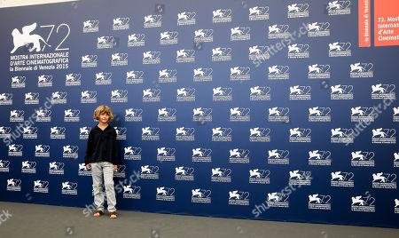 Stock Picture of Tom Sweet Young actor Tom Sweet poses during the photo call for the movie The Childhood of a Leader at the 72nd edition of the Venice Film Festival in Venice, Italy, . The 72nd edition of the festival runs until Sept. 12