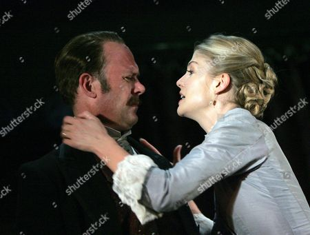Andrew Woodall (Jack) and Rosamund Pike (Bella)