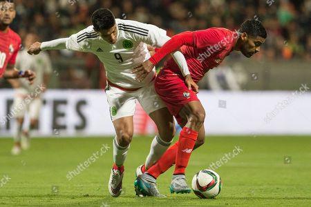 Raul Jimenez, Gabriel Gomez Mexico's Raul Jimenez, left, fights for the ball with Panama's Gabriel Gomez during an international friendly soccer match in Toluca