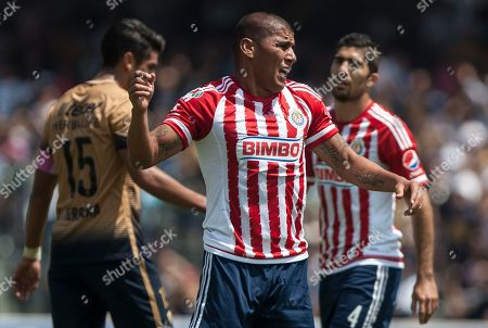 Carlos Salcido Chivas' Carlos Salcido, center, reacts after missing a chance to score during a Mexican soccer league match against Pumas in Mexico City