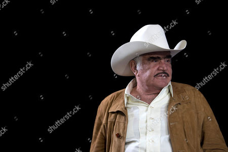 "Vicente Fernandez Mexican ranchera music singer and actor Vicente Fernandez pauses during a news conference in Tlajomulco de Zuniga, Mexico, . The ranchera music icon unveiled his new album, ""Muriendo de Amor"