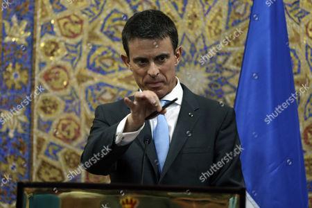 Manuel Valls French Prime Minister Manuel Valls holds a press conference with Jordanian Prime Minister Abdullah Ensour in Amman, Jordan