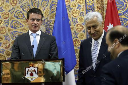 Manuel Valls, Abdullah Ensour French Prime Minister Manuel Valls, left, holds a press conference with Jordanian Prime Minister Abdullah Ensour in Amman, Jordan