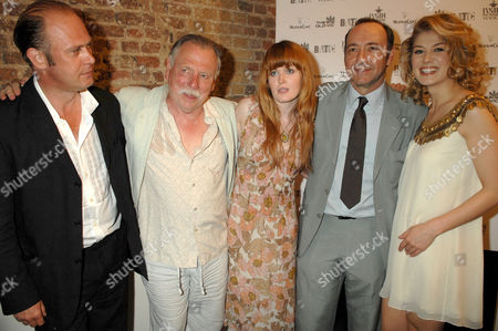 The Cast - Andrew Woodall, Kenneth Cranham, Sally Tatum, Kevin Spacey and Rosamund Pike