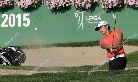 Yani Tseng Yani Tseng of Taiwan hits out of a bunker on the 18th hole during the first round of the KEB Hana Bank Championship golf tournament at Sky72 Golf Club in Incheon, South Korea