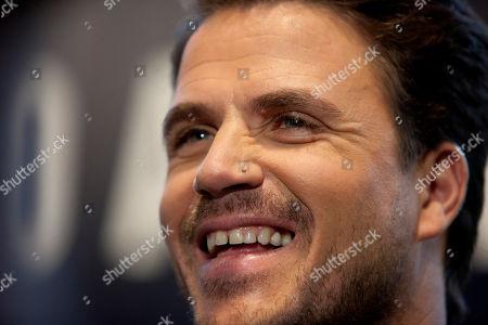 Dani Martin Spanish singer Dani Martin speaks with the media before his performance in Madrid, Spain
