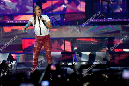 India Martinez Spanish singer India Martinez performs on the stage in Madrid, Spain