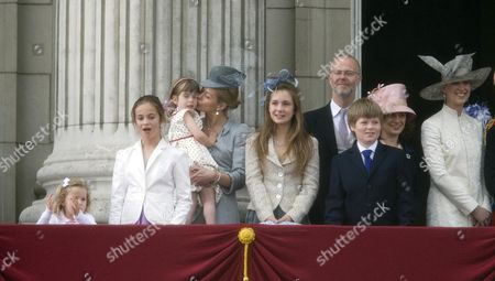 Eloise Taylor, Lady Helen Taylor, George Windsor Earl of St. Andrews, Columbus Taylor, Sylvana Windsor Countess of Saint Andrews and Lady Gabriella Windsor