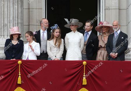 Sylvana Windsor Countess of Saint Andrews, George Windsor Earl of St. Andrews, Lady Gabriella Windsor, Lord Frederick Windsor, Princess Michael Of Kent and Prince Michael of Kent