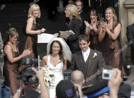 Editorial picture of Gary Neville's and Emma Hadfield's Wedding, Manchester Cathedral, Manchester, Britain   - 16 Jun 2007