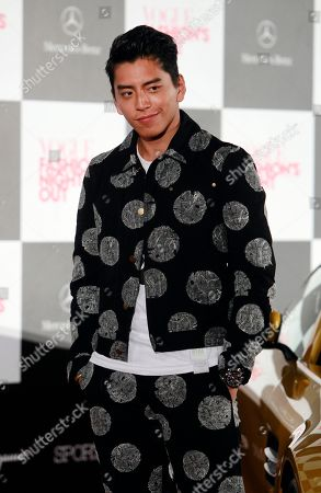 Darren Wang Taiwanese actor Darren Wang poses for media during a photo call of fashion event at Taipei 101, in Taipei, Taiwan