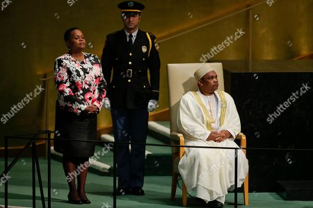 Ikililou Dhoinine Ikililou Dhoinine, President of Comoros, is introduced during the 70th session of the United Nations General Assembly at U.N. headquarters