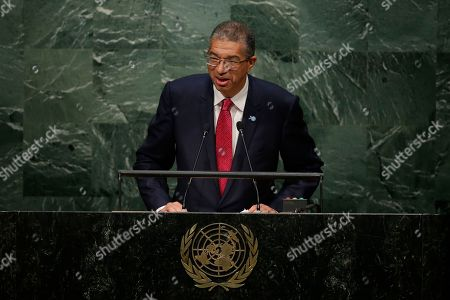 Lionel Zinsou Benin's Prime Minister Lionel Zinsou speaks during the 70th session of the United Nations General Assembly at U.N. headquarters
