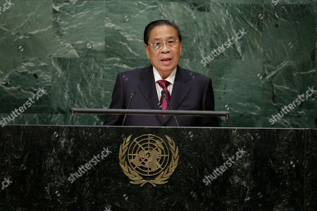 Choummaly Sayasone Choummaly Sayasone, the President of Laos, speaks during the 70th session of the United Nations General Assembly at U.N. headquarters
