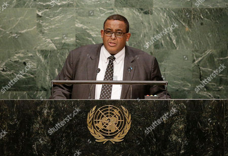 Omar Abdirashid Ali Sharmarke Somali Prime Minister Omar Abdirashid Ali Sharmarke speaks during the 70th session of the United Nations General Assembly, at U.N. headquarters