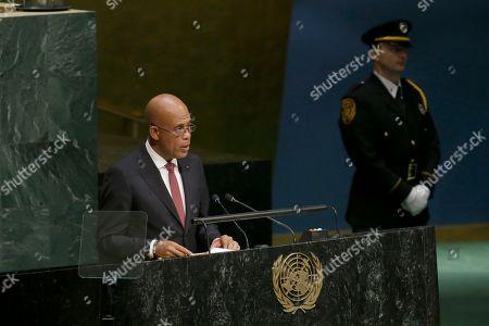 Michel Joseph Martelly President of Haiti Michel Joseph Martelly addresses the 70th session of the United Nations General Assembly, at U.N. Headquarters