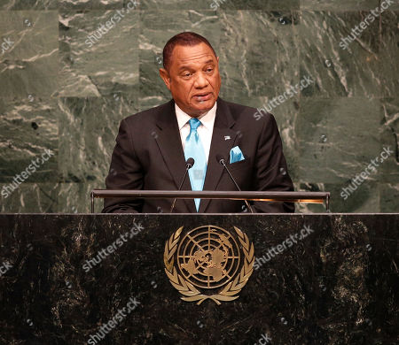 New York, Perry Gladstone Christie Perry Gladstone Christie, Prime Minister of the Bahamas, addresses the 2015 Sustainable Development Summit, at United Nations headquarters