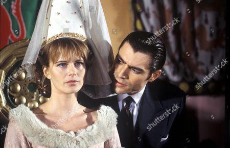 'Rik Mayall Presents' - 1995 Terry [Mark Frankel] confronts [Clare] Serena Scott Thomas at Camelot.