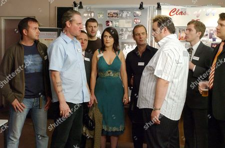 Trevor Fox, Tracey Whitwell, Robson Green and Mark Benton in 'Northern Lights' - 2006