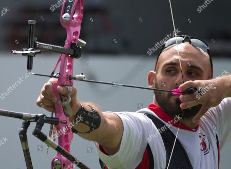 Jay Lyon Canada's Jay Lyon prepares to shoot in a semifinal of the men's individual archery, at the Pan Am Games in Toronto, . Lyon won bronze in the event