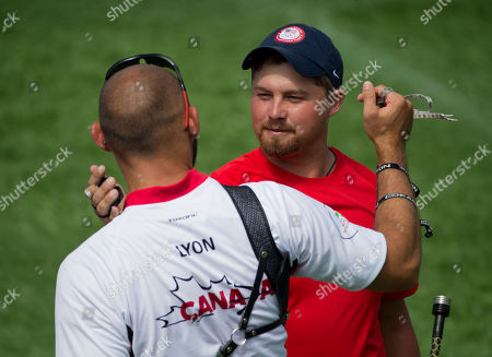 Brady Ellison Brady Ellison, right, of the U.S. and Jay Lyon of Canada congratulate each other following a semifinal won by Ellison, in men's individual archery competition, at the Pan Am Games in Toronto, . Ellison went on to win silver and Lyon bronze