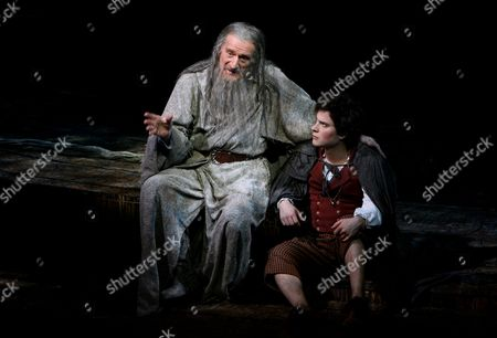Malcolm Storry (Gandalf) and James Loye (Frodo)