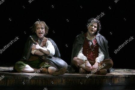 Peter Howe (Sam) and James Loye (Frodo)
