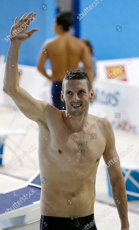 Ryan Cochrane Canada's Ryan Cochrane reacts after winning the gold medal in the men's 400m freestyle final at the Pan Am Games, in Toronto