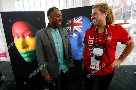 Robert Young, Alexis Jardin Artist Robert Young, left, talks to Alexis Jardin about his artwork displayed in downtown Toronto, . Each of Young's subjects has a connection to the 41 nations participating in the Pan Am Games