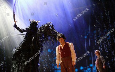 David Grant (A Black Rider), James Loye (Frodo) and Peter Howe (Sam)